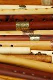 Hölzerne Flöten Stockbilder