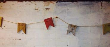 Hölzerne Flagge Lizenzfreies Stockfoto