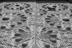 Hölzerne geschnitzte Decke stockfoto