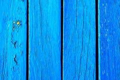 Hölzerne gestreifte blaue Oberfläche Stockbild