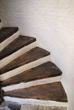 Hölzerne gewundene Treppen Lizenzfreie Stockbilder