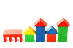 Hölzerne Häuser Lizenzfreies Stockfoto