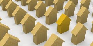 Hölzerne Häuser Stockfotografie