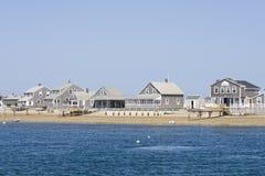 Hölzerne Häuser auf Cape Cod stockfoto