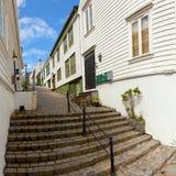 Hölzerne Häuser in Norwegen Stockbild