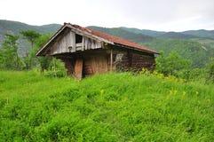 Hölzerne Hütte Stockbild