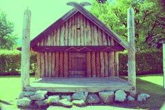 Hölzerne Hütte Stockfoto