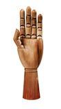 Hölzerne Hand Stockfotografie