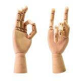 Hölzerne Hand Stockbild