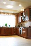 Hölzerne Küchemöbel Stockfotografie