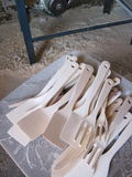 Hölzern kitcen Werkzeuge Stockbild