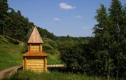 Hölzerne Kapelle Stockfoto