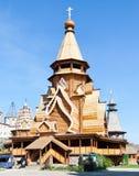 Hölzerne Kapelle, Izmailovsky Kremlin stockfotos