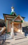Hölzerne Kapelle. Russland. Weißer Berg stockfotografie