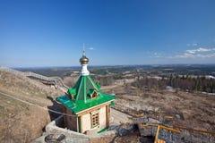 Hölzerne Kapelle. Russland. Weißer Berg stockbild