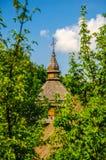 Hölzerne Kirche Lizenzfreies Stockfoto