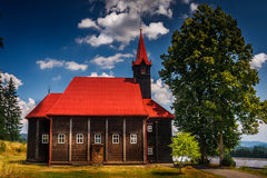 Hölzerne Kirche lizenzfreies stockbild
