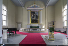 Hölzerne Kirche Stockbild
