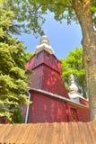 Hölzerne Kirche des griechischen Katholischen Lizenzfreies Stockfoto