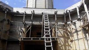 Hölzerne Kirche im Bau Lizenzfreies Stockfoto