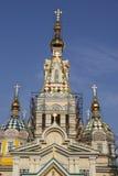Hölzerne Kirche in Kasachstan Lizenzfreies Stockbild