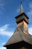 Hölzerne Kirche in Maramures Stockfotografie