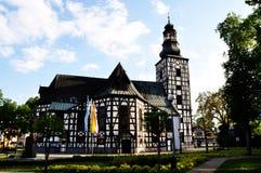 Hölzerne Kirche in Milicz lizenzfreies stockfoto