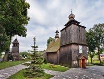 Hölzerne Kirche in Rabka, Malopolska, Stockfotografie
