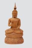 Hölzerne Kunsttapete Buddhas Stockbilder