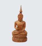 Hölzerne Kunsttapete Buddhas Stockfoto