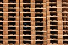 Hölzerne Ladeplatten Stockfoto