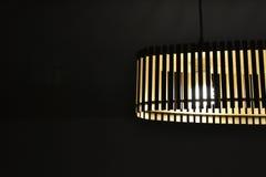 Hölzerne Lampe Stockfoto