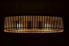Hölzerne Lampe Stockbild