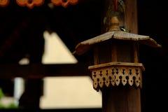 hölzerne Lampe Lizenzfreies Stockfoto