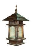 Hölzerne Lampe lokalisiert Lizenzfreies Stockbild