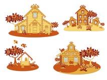 Hölzerne Landhäuser Stockbild
