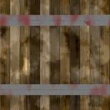Hölzerne Latten Browns verstärkt mit Eisenbändern Alte Farbhölzerne Beschaffenheit lizenzfreie abbildung