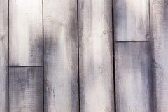 Hölzerne Latten Grey Vertical Background Stockfoto