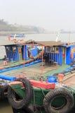 Hölzerne Motorboote Stockfoto
