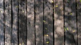Hölzerne Musterbeschaffenheit mit grünem Blatthintergrund Lizenzfreies Stockbild