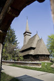 Hölzerne Ortodox Kathedrale lizenzfreies stockbild