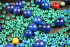 Hölzerne Perlen Stockbilder