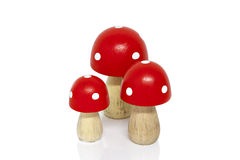 Hölzerne Pilze Stockfoto