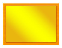 Hölzerne Plakette mit Bronzeeinfügung Stockbild
