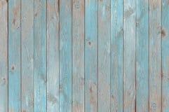 Hölzerne Planken Beschaffenheit oder Hintergrund der blauen Weinlese Stockfotos