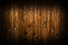 Hölzerne Planken Browns als Hintergrund Stockfoto