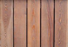 Hölzerne Planken Browns, Zaun Stockfoto
