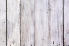 Hölzerne Plankeweißbeschaffenheit Stockfotos