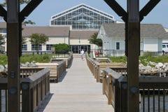 Hölzerne Promenade in Nord-Carolina Lizenzfreies Stockfoto