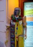 Hölzerne Puppe des schwarzen hellen Theaters Lizenzfreies Stockfoto